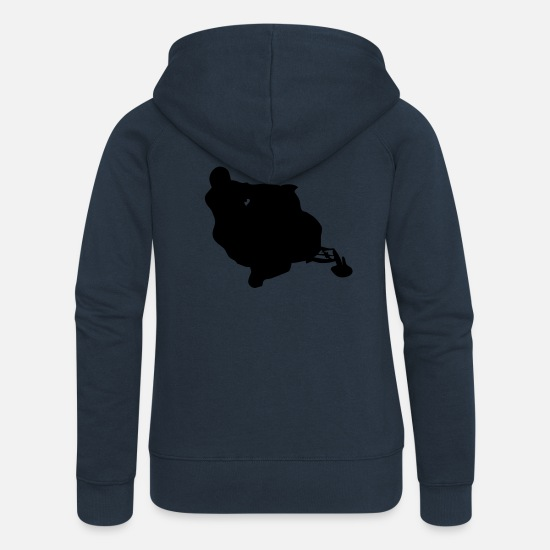 New Hoodies & Sweatshirts - snowmobile snow cross x games racing sport - Women's Premium Zip Hoodie navy