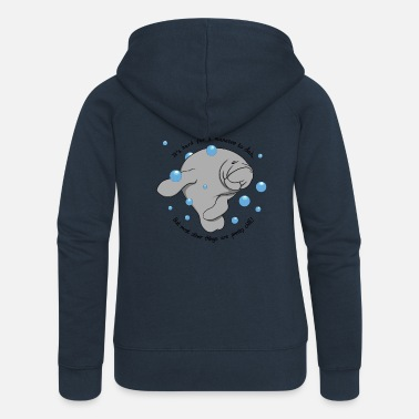 Manatee Dab - Women's Premium Hooded Jacket