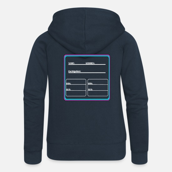 Horse Racing Hoodies & Sweatshirts - Ethnicity panel - Women's Premium Zip Hoodie navy