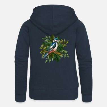 Wing Colorful bird - Women's Premium Zip Hoodie