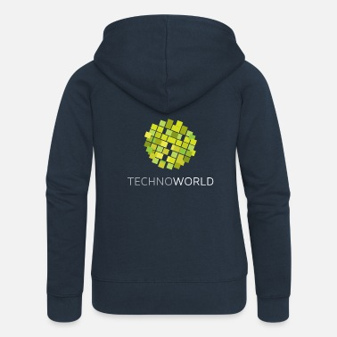 Techno World - Frauen Premium Kapuzenjacke