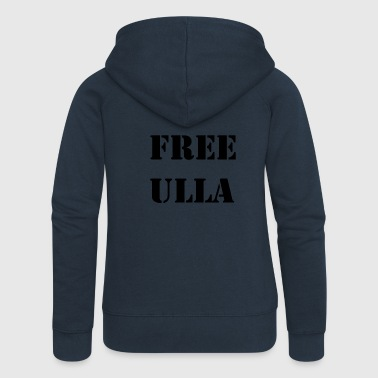 Free Ulla - Black Text - Women's Premium Hooded Jacket