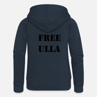 Black For Free Free Ulla - Black Text - Women's Premium Hooded Jacket