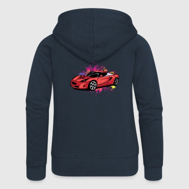 Cool red sportscar - Women's Premium Hooded Jacket