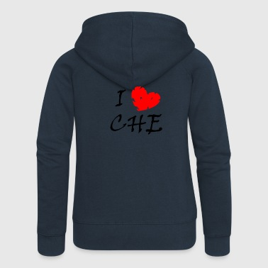 I love CHE - Women's Premium Hooded Jacket