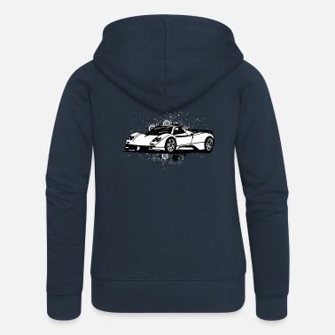 Supercar Cool supercars white - Women's Premium Hooded Jacket
