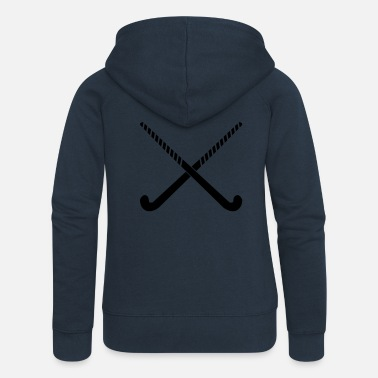 Hockey stick crosses gift idea - Women's Premium Zip Hoodie