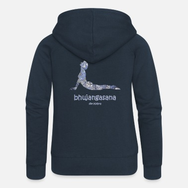 bhujangasana the cobra ebru 44 - Women's Premium Zip Hoodie