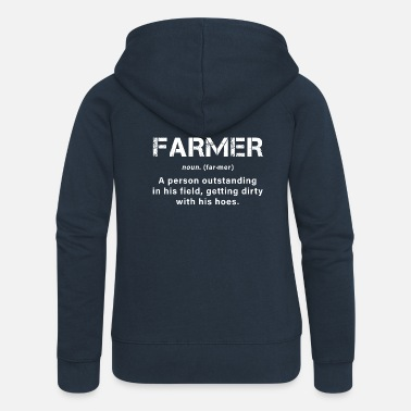 Farmer A great farmer - Women's Premium Zip Hoodie