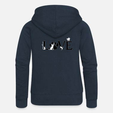 Soft Endless love cats - Women's Premium Zip Hoodie
