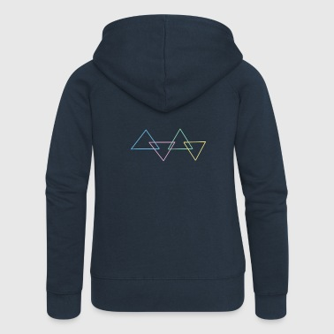 triangles - Women's Premium Hooded Jacket
