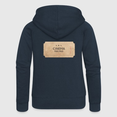 Cinema Ticket Cinema Movie Free Pass - Women's Premium Hooded Jacket