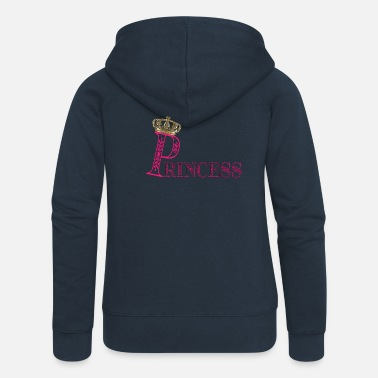 Princess Princess princess crown - Women's Premium Zip Hoodie