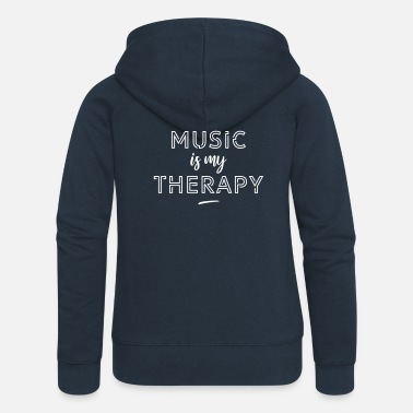 Music Is My Jam Music is my therapy - Veste à capuche premium Femme