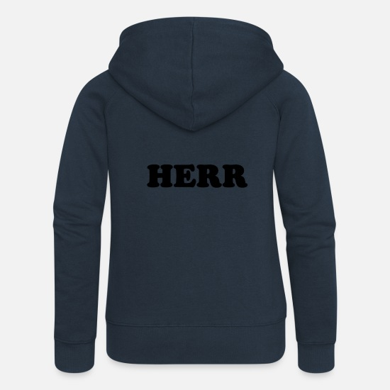 Birthday Hoodies & Sweatshirts - SIR - Women's Premium Zip Hoodie navy