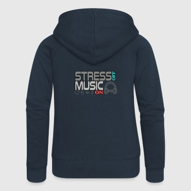 Turn off stress - turn on music - Women's Premium Hooded Jacket