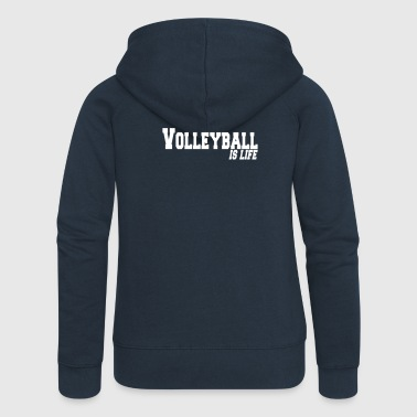 volleyball is life - Frauen Premium Kapuzenjacke