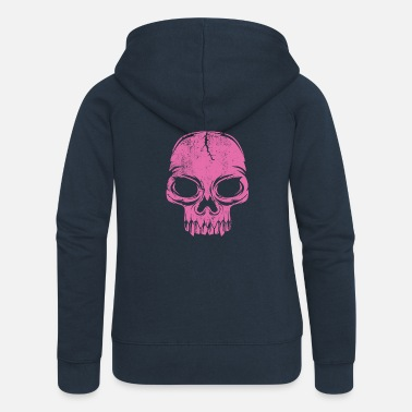 College 20-13 PINK SKULL - cool textiles and gift products - Naisten premium hupputakki