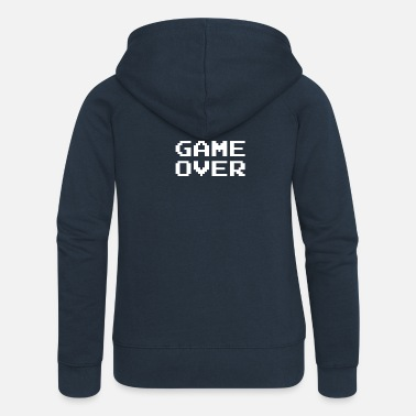 Game Over game over - Felpa con zip premium da donna
