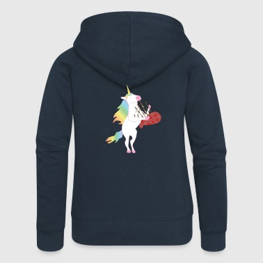 Unicorn playing the bagpipes! - Women's Premium Hooded Jacket