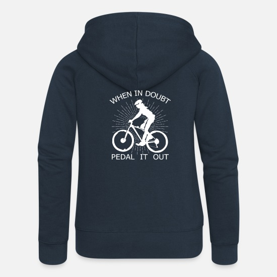 Cyclist Hoodies & Sweatshirts - Bike Single Speed Fixie Mountain Bike Gift - Women's Premium Zip Hoodie navy