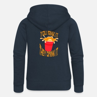Pregaming Beer Pong drinking game Drinking Party Vorglühen Funny - Women's Premium Zip Hoodie