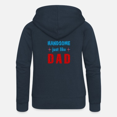 Pretty like dad - Women's Premium Zip Hoodie