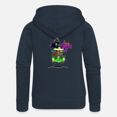 Scooby No Scooby fan art final - Women's Premium Zip Hoodie