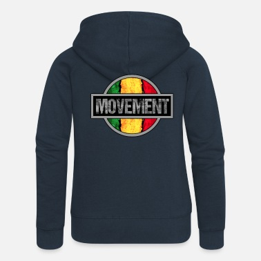 Movement Reggae Movement - Premium zip hoodie dam