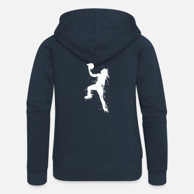 Slam Dunk Slam dunking basketball player - Women's Premium Hooded Jacket
