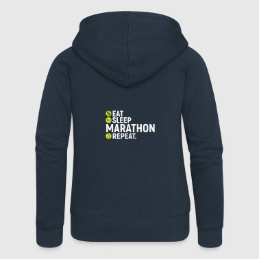 Eat, sleep, run marathon, repeat - Women's Premium Hooded Jacket
