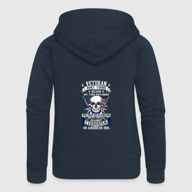 Veteran soldier terror terrorism skull army usa us - Women's Premium Hooded Jacket