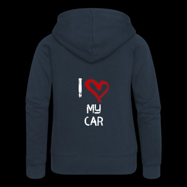I love my car - Women's Premium Hooded Jacket