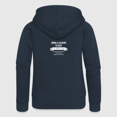 BEING A CASHIER - Women's Premium Hooded Jacket