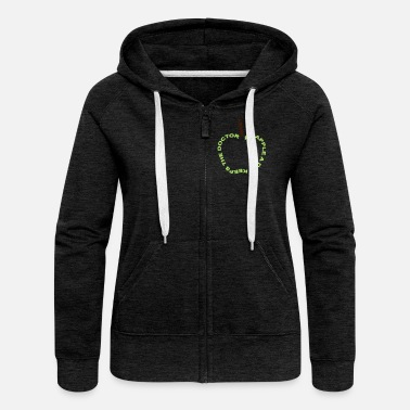 Funny Humour an apple a day keeps the doctor away - Women's Premium Zip Hoodie