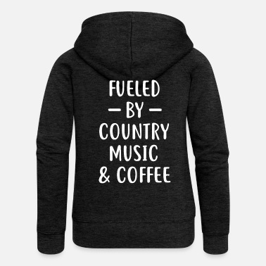 Country Regalo della maglietta di Country Country & Coffee - Felpa con zip premium donna