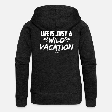 Sun Summer sea sun beach vacation gift - Women's Premium Zip Hoodie