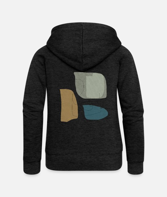 Graphics Hoodies & Sweatshirts - Minimalistic abstract background N3 - Women's Premium Zip Hoodie charcoal grey