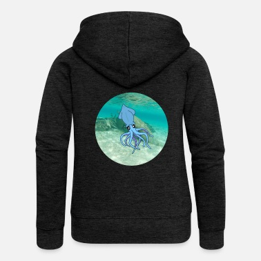 Under Water calamari under water - Women's Premium Zip Hoodie