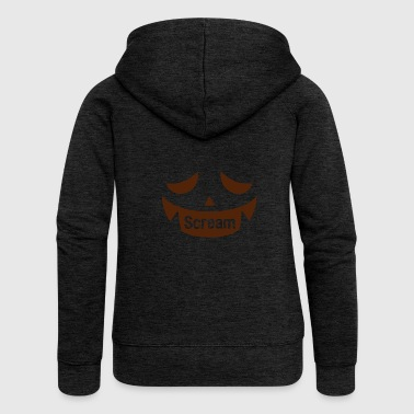 Scream SCREAM DI HALLOWEEN - Felpa con zip premium da donna