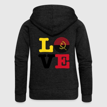 Angola Angola Love heart mandala - Women's Premium Hooded Jacket