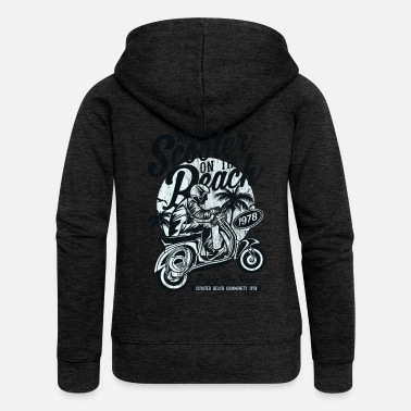 Scooter ENJOY THE RIDE - Moped Scooter Shirt Motiv - Women's Premium Hooded Jacket