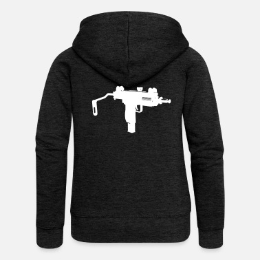 Uzi Uzi submachine gun silhouette - Women's Premium Hooded Jacket