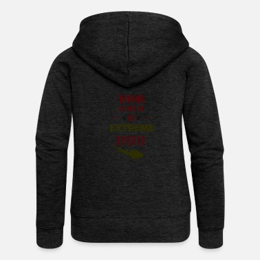 Extreme Sports Diving, extreme sports ... Diving = extreme sports - Women's Premium Zip Hoodie