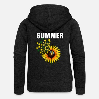 Summer Ts Summer, flower, bee, gift, cool, summer TS - Women's Premium Zip Hoodie