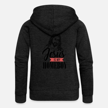Homeboy Jesus Homeboy - Felpa con zip premium donna