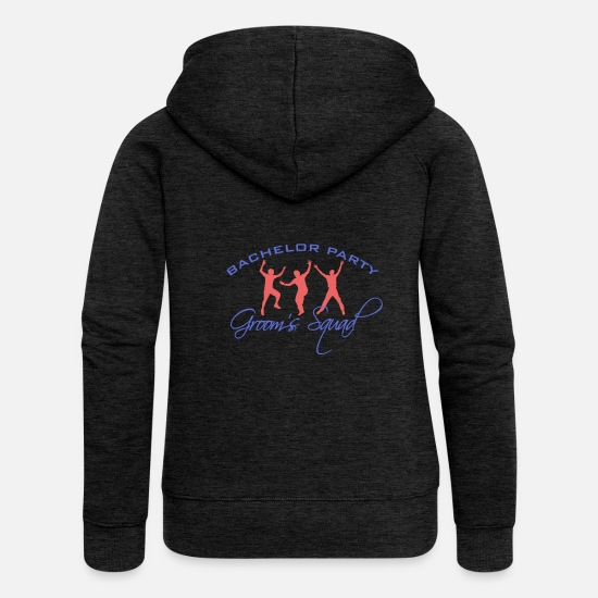 Bachelor Party Hoodies & Sweatshirts - Bachelors Party - Bachelor Party - Women's Premium Zip Hoodie charcoal grey