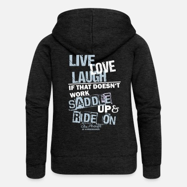 Live Love Laughs - Women's Premium Zip Hoodie