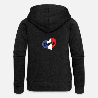 I Love Paris I love paris 2 - Veste à capuche Premium Femme
