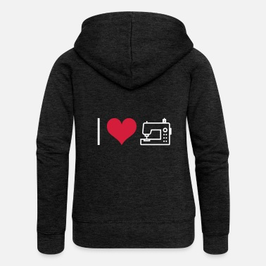 Sewing Machine sew - Women's Premium Zip Hoodie